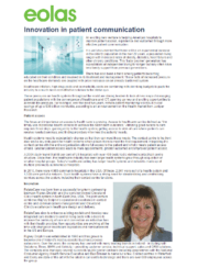 Eolas Magazine Feature -Innovation in patient communication