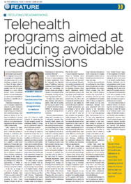 Article by Rob Grant - Telehealth programs aimed at reducing avoidable readmissions Irish medical news