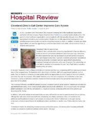 Beckers Hospital Review patient access RelateCare