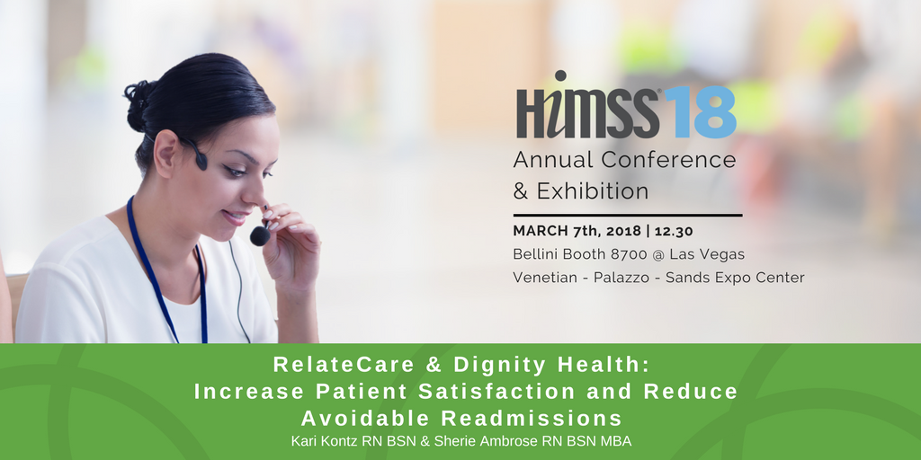 RelateCare Dignity Health Speaking at HIMSS Post Discharge ...